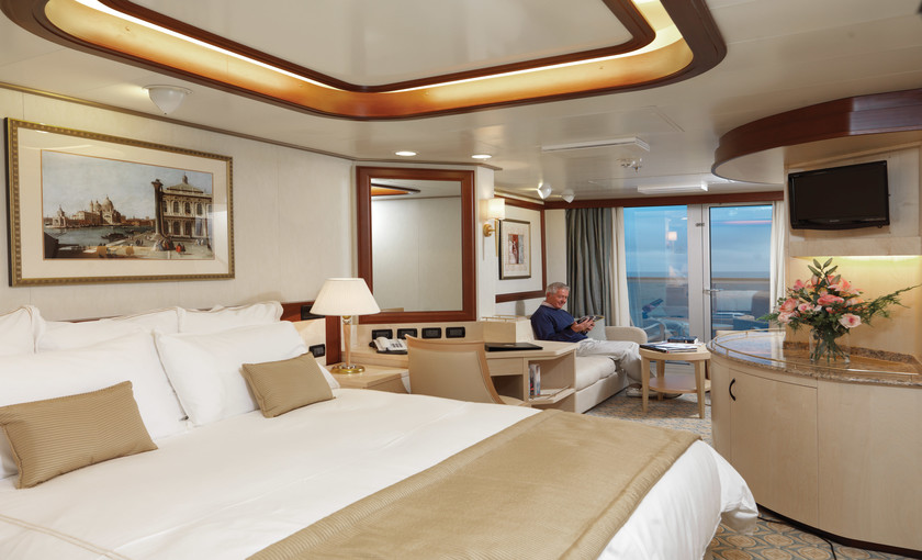 Princess suite van cruise Queen Elizabeth