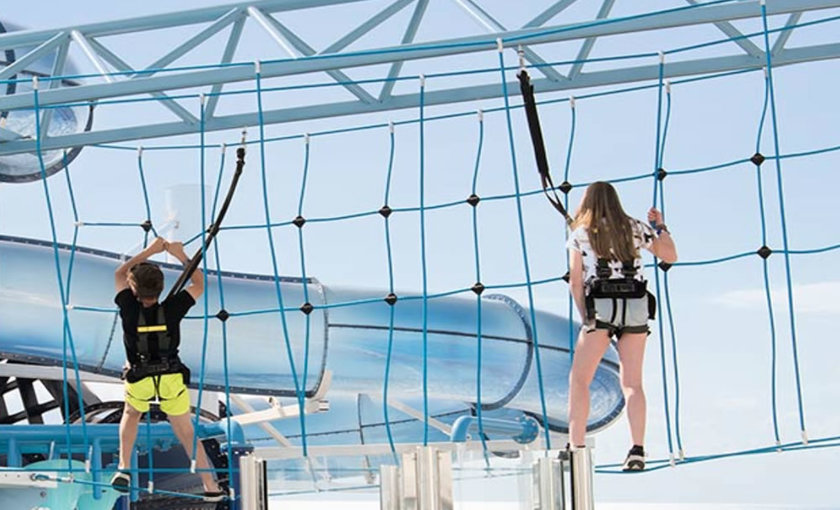 klimmen in Aquapark MSC Grandiosa