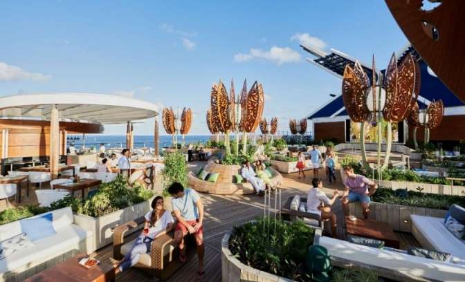 Celebrity Apex rooftop bar and garden